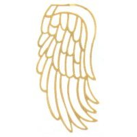 Brass Filigree Angel Wings