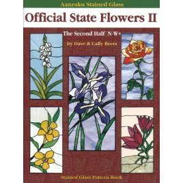 AANRAKU STAINED GLASS: OFFICIAL STATE FLOWERS Vol. 2 by Cally &