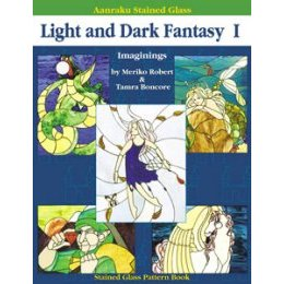 AANRAKU STAINED GLASS - LIGHT AND DARK FANTASY I by Robert & Bon