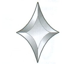 "Star Bevel / Shape B / 4"" x 6"" - 1 left"