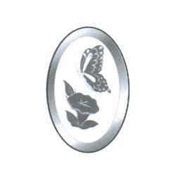 Morning Glory & Butterfly Engraved Bevel