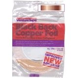 "Copper Foil Tape / Venture 1.25 mil. Black Back / 1/2"" / 1 left"