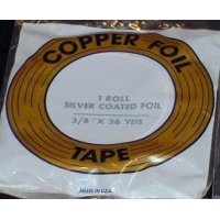 "Copper Foil Tape / Edco 1.25 mil. Silver Back / 3/16"" - 3 left"