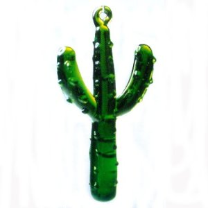 Saguaro Cactus Glass Ornament