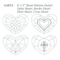 "Large 8 1/2"" Heart Pattern Packet"