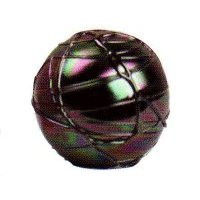 Iridized Rope Glass Paperweight