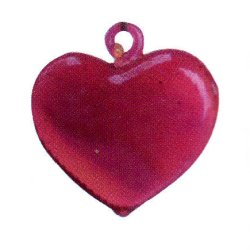Red Heart Hand Blown Glass