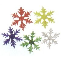 Snowflake Glass Ornament / Set of 5