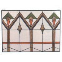 """ARROWROOT"" Stained Glass Panel"
