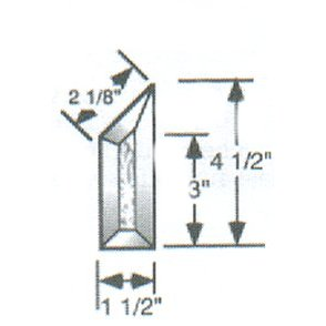 "1 1/2"" X 4 1/2"" Left Glue Chip Half House Bevel"