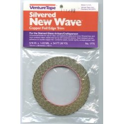Copper Foil Tape / Venture New Wave 1.5 mil. Full Silver / 5/16""