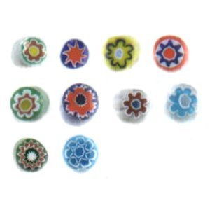 Millefiori Rods / Ten Assorted Colors