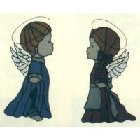"Carousel Collection - Two 16"" Angels by Jan Patten"