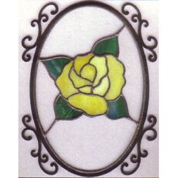 "Wrought Iron Oval Frame / 4"" X 6"""